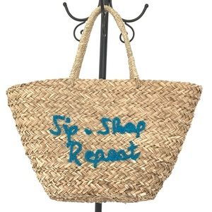 Handbags - SIP*SHOP*REPEAT straw summer tote bag